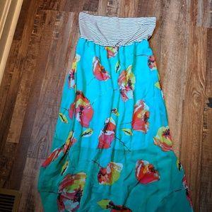 Xhilaratiom strapless maxi dress